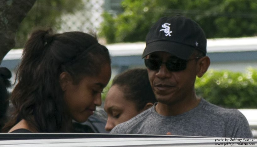 obama holiday vacation daughter