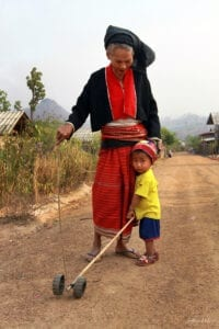 indigenous palong woman and child together